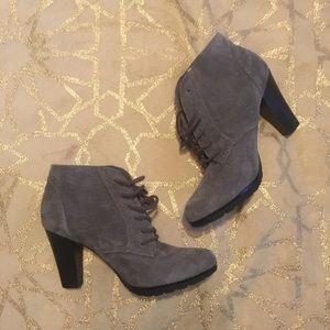 Merona Gray Lace Up Booties